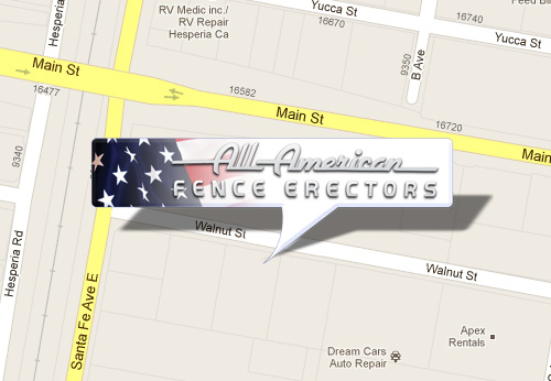 Google Map - All American Fence Erectors