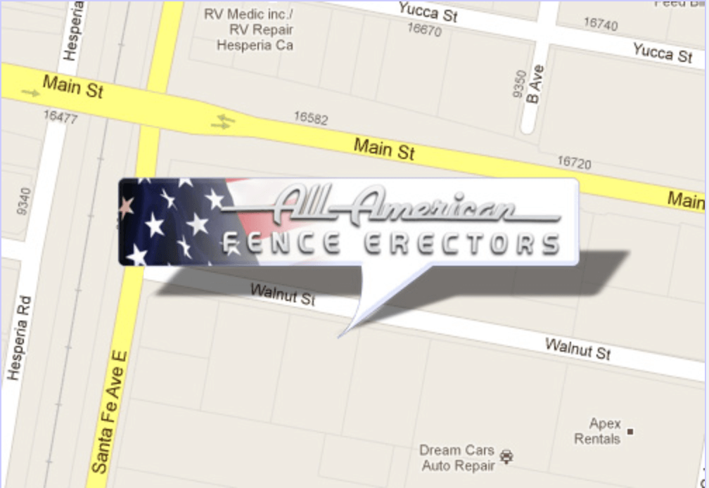 All American Fence Erectors location on a map