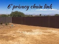 AAFE Video - Privacy Link and Chain Link Fence