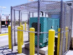Fully Enclosed Chain Link Fence, Chain Link Fence for Generator