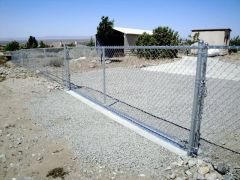 5' chain link, 16' rolling gate (operator ready)
