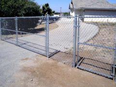 5' chain link, 14' double swing, 4' walk gate