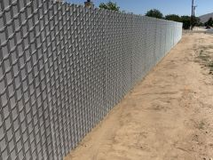 6' privacy chain link, Grey