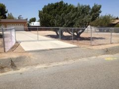 5' chain chain link, 16' rolling gate with angle iron & v-groove wheel