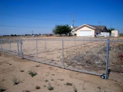 5' chain link, 20' rolling gate