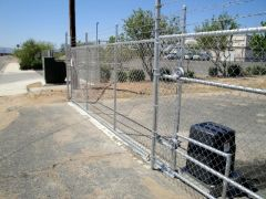 Barbed Wire Rolling Gate for Security