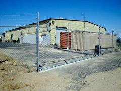 Rolling Gate, Barbed Wire, 18'x6' Gate, Security Gate, Security Fence