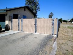 4'x5' walk gate, 12'x5' double swing, 5' tall privacy chain link fence