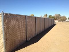 6' privacy chain link, Tan