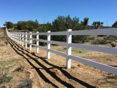 Ranch Style Vinyl Fence High Desert