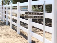 Vinyl Fence Ranch Style 4 Rail