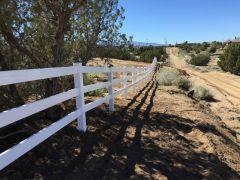 Ranch Style Vinyl Fence Installation Oak Hills