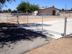 4' chain link, 18' rolling gate