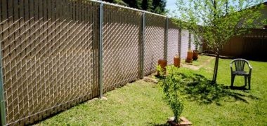 professionally installed privacy chain link fence