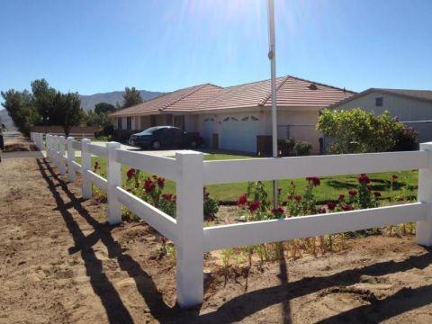 Vinyl Fence Ranch Style 2 Rail