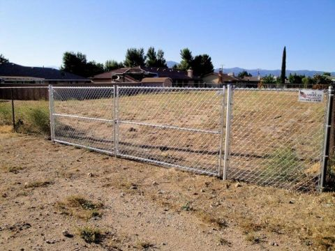 5' chain link, 16' double swing gate (cut in old exist fence)