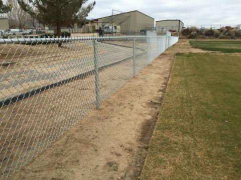 4' tall chain link baseball infield fence