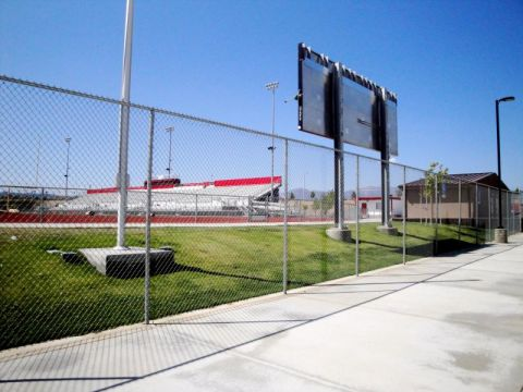 Football Field Fence, Commercial Fencing, Football Field Security