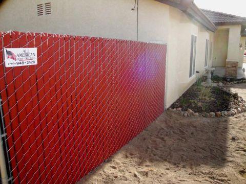 Vinyl Fence Redwood Slats