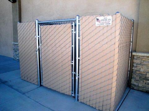 6' privacy chain link, a/c full enclosure-2