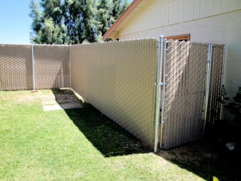 3'x6' walk gate, privacy chain link, Tan