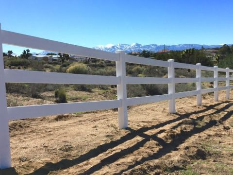Ranch Rail Vinyl Fencing High Desert