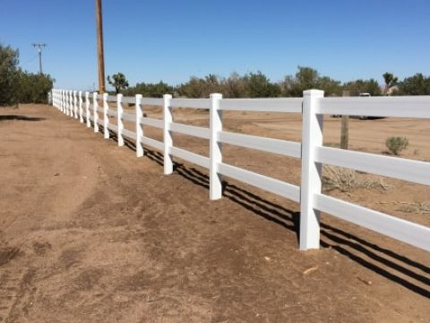 Ranch Style Vinyl Fence Apple Valley