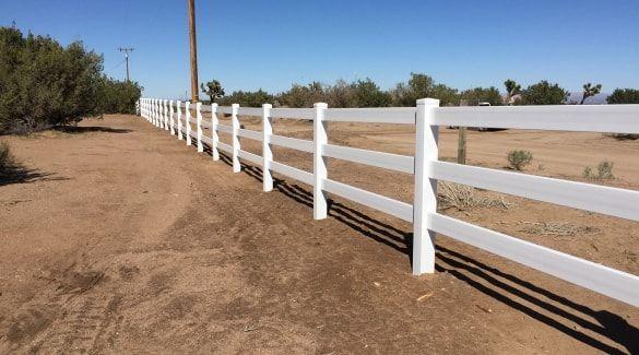 Ranch Rail Vinyl Fence High Desert