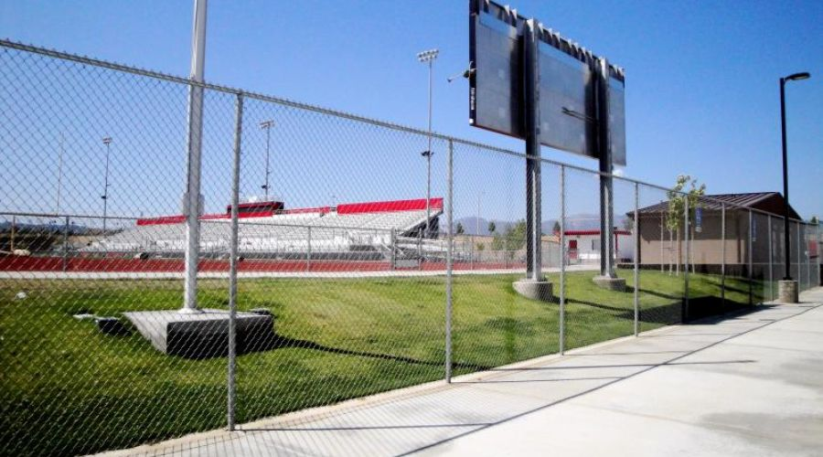 commercial fencing around a stadium