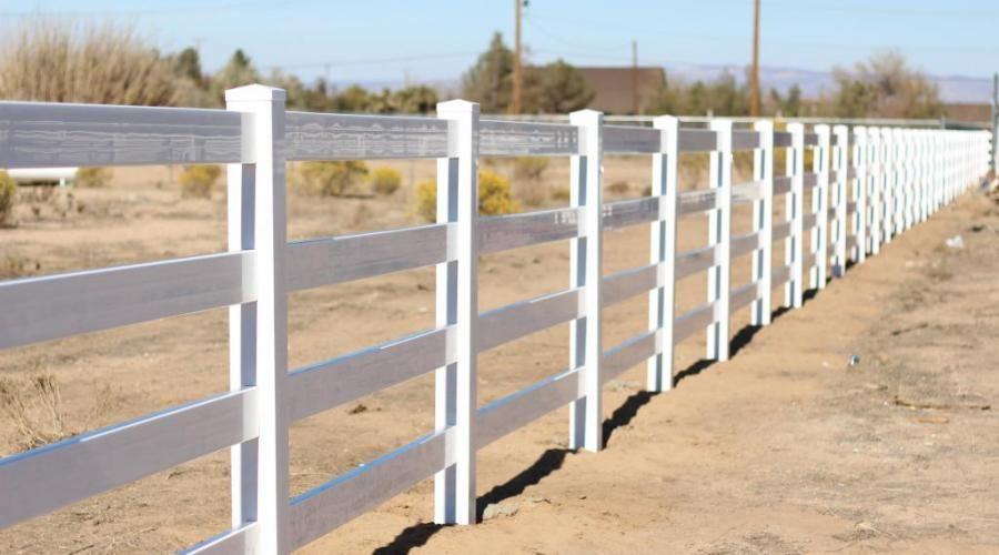4-rail ranch style vinyl pvc, white
