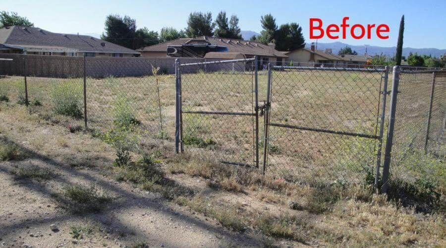 Old broken gate