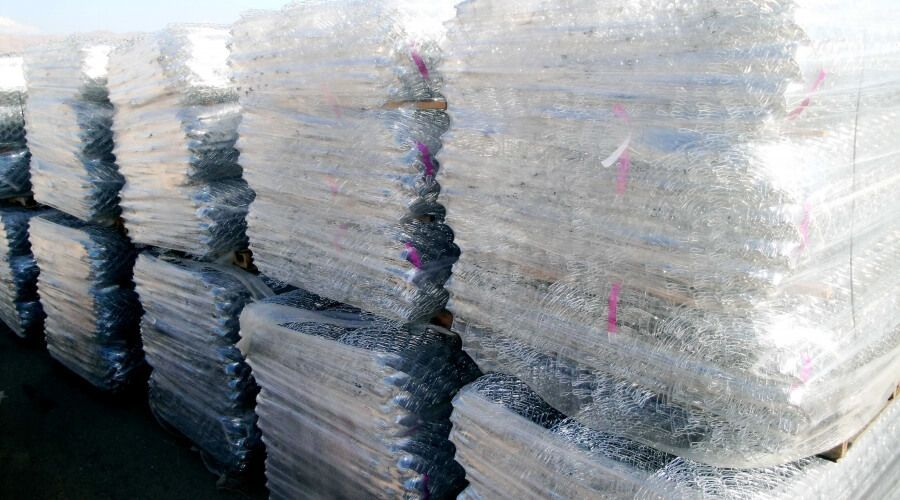 Pallets of chain link in stock