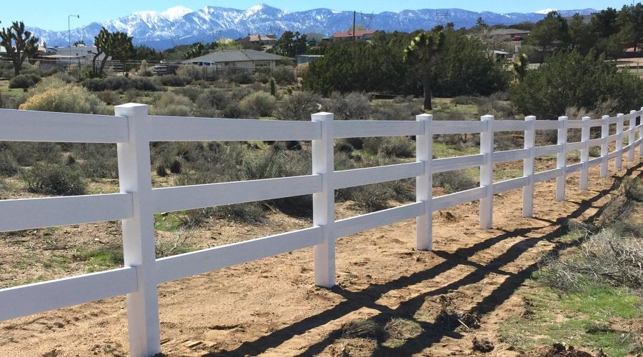 Ranch Rail Vinyl Fence Victorville