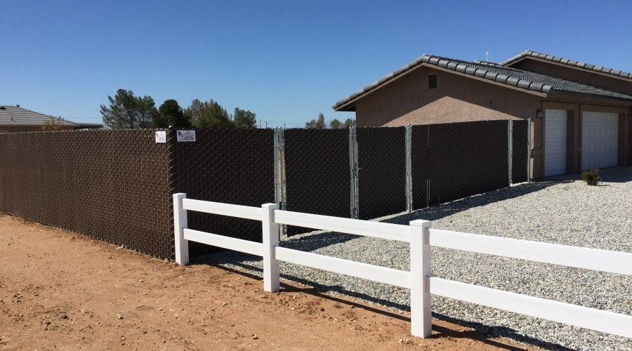 Vinyl Fence High Desert
