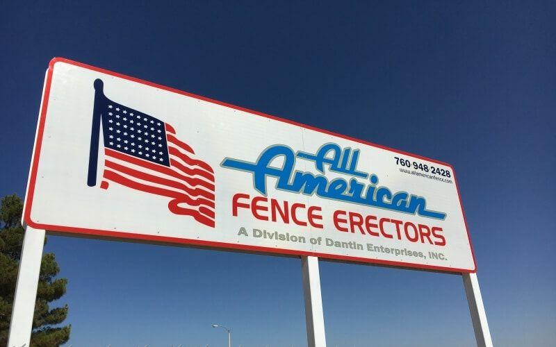 All American Fence Erectors sign