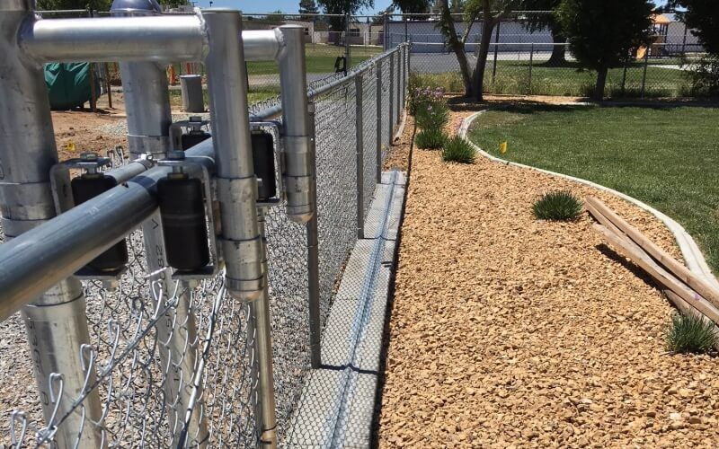 roller gate and chain link fencing