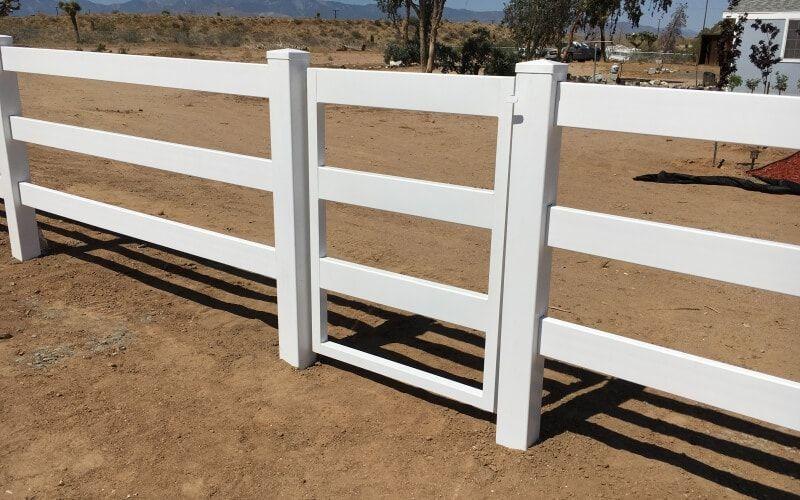 small walk-through fence gate