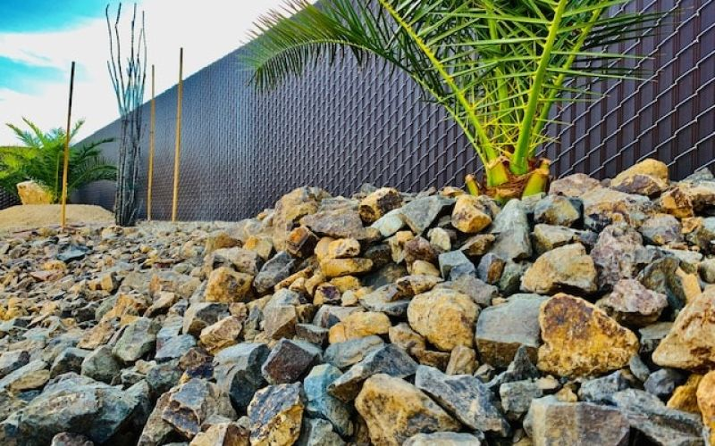 Out beautiful 6' dark brown privacy chain link fence