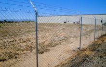 Barbed Wire Chain Link Fence, No Top Rail Chain Link Fence, '6 Fence, Security Fence