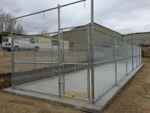 8' tall chain link batting cage fence