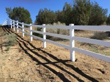Vinyl Fencing High Desert